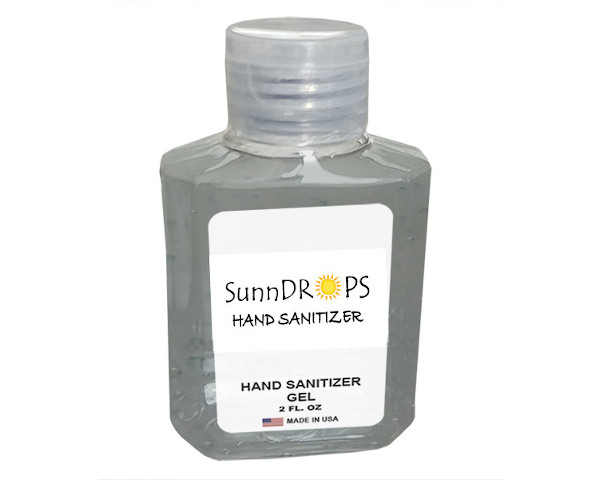 Hand Sanitizer Gel in 2 Oz Bottles
